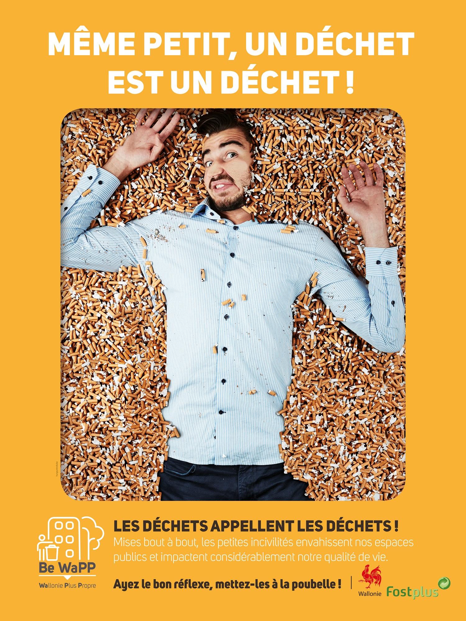 """Campagne d'affichage """"Même petit, un déchet est un déchet !"""""""