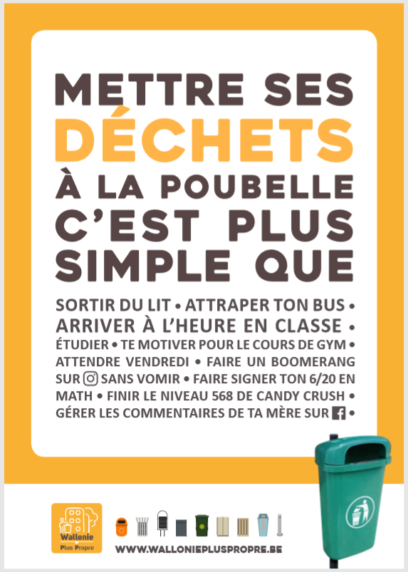 Affiche De Sensibilisation Secondaire Wallonie Plus Propre